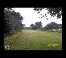 Le terrain presque dans son ensemble pris du côté du chemin d'accès.