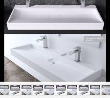 Idée double vasque