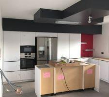 Fin de la 1ere partie d'installation de la cuisine
