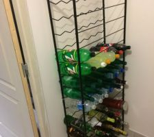 casier range 90 bouteilles 30euros chez leroy merlin mis dans le cellier