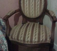fauteuil médaillon avant
