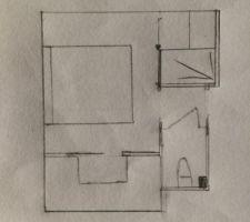 espace chambre toilette apres modification du placard