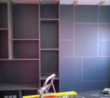 mur rangement bureau