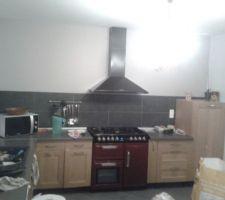 cuisine en cours de rangement