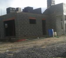 Élévation des murs a l?étage : vue plus générale