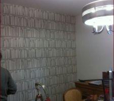 papier peint du bureau trompe l oeil de chez koziel