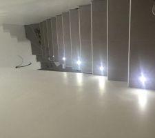 Toujours en cours avec les lumières qui serviront de barrières lumineuses