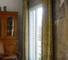 rideaux de la salle a manger et salon poses