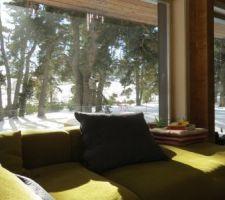 Vue du canapé