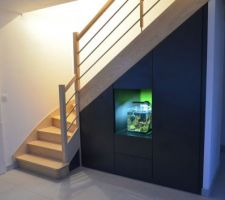 Photos et id es escalier quart tournant 3 293 photos - Amenagement sous escalier tournant ...