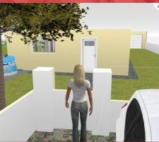 3D façade entrée