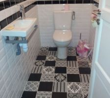 Voici les WC terminés