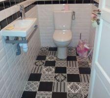 voici les wc termines