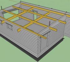 une 1ere idee pour la charpente du garage