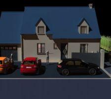 Images 3D Maison sur jardin 1