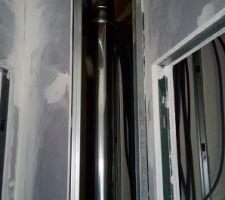 Conduit cheminée etage