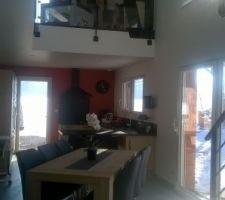 Salon avec notre nouveau terrarium a droite