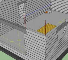 representation des linteaux du garage