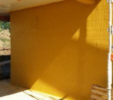 projection de la facade jaune ocre en j70 pour les facades blanc en g00 pour les modenatures
