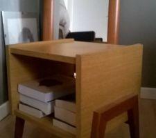 table de chevet scandinave vintage