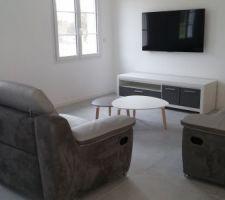 meuble tv en place