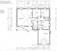 plans interieurs de la maison pour surfaces et disposition des pieces
