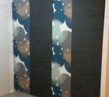 rideaux japonais pour porte de placard