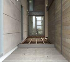 terrasse acces en cours de pose