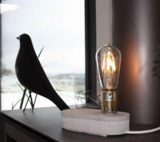 Essai diy de lampe en béton