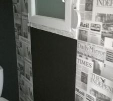 La peinture ardoise sous le fenêtre pour laisser des petits mots