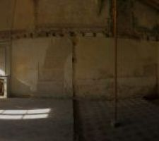 Quelques sceaux plus tard, voici notre futur salon!! 10 mètres de long, 6 de large
