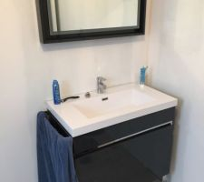 Un meuble de 80 cm et son miroir