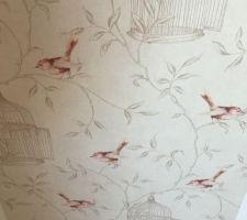 Papier peint posé