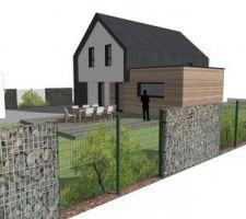 3D de notre construction avec aménagement exterieure