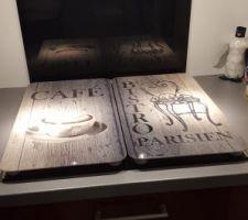 Couvre plaque induction et Crédence noir miroir