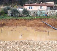 Fondations sous l'eau