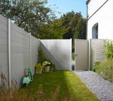 Future clôture entrée extérieure