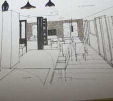 idee deco archi interieur salon salle a manger vue de la cuisine