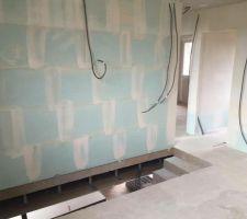 Escalier/ salle de bain vu du bureau /mezzanine