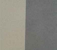 Debut de l'enduit ! raccord gris/blanc