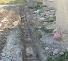 fondations de la terrasse