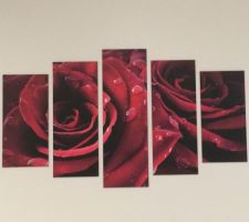 Tableau rose rouge showroomprivé