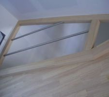 escalier en cours d installation