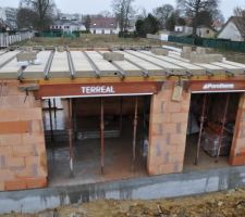 Le 30-03-2016 : Préparation avt coulage de la dalle de l'étage