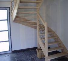 l escalier est en place