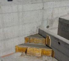 escalier de la piscine
