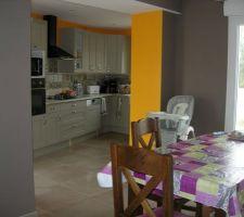 Nouvelle cuisine dans l'extension. L'ancienne cuisine était dans la salle à manger, je joins une photo, la transformation est saisissante.