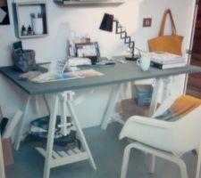 petite idee pour mon bureau j ai deja achete les deux treteaux d architecte en blanc il me reste a trouver un joli plateau