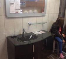 nous avons choisi le meuble de la salle de bains