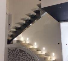 spot encastre tradel gypsum montee escalier